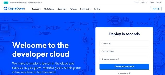 שרת הענן הזול ביותר - DigitalOcean